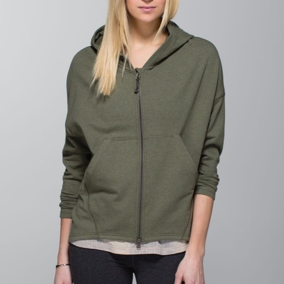 Lululemon Hold Your Om Hoodie Fatigue Green